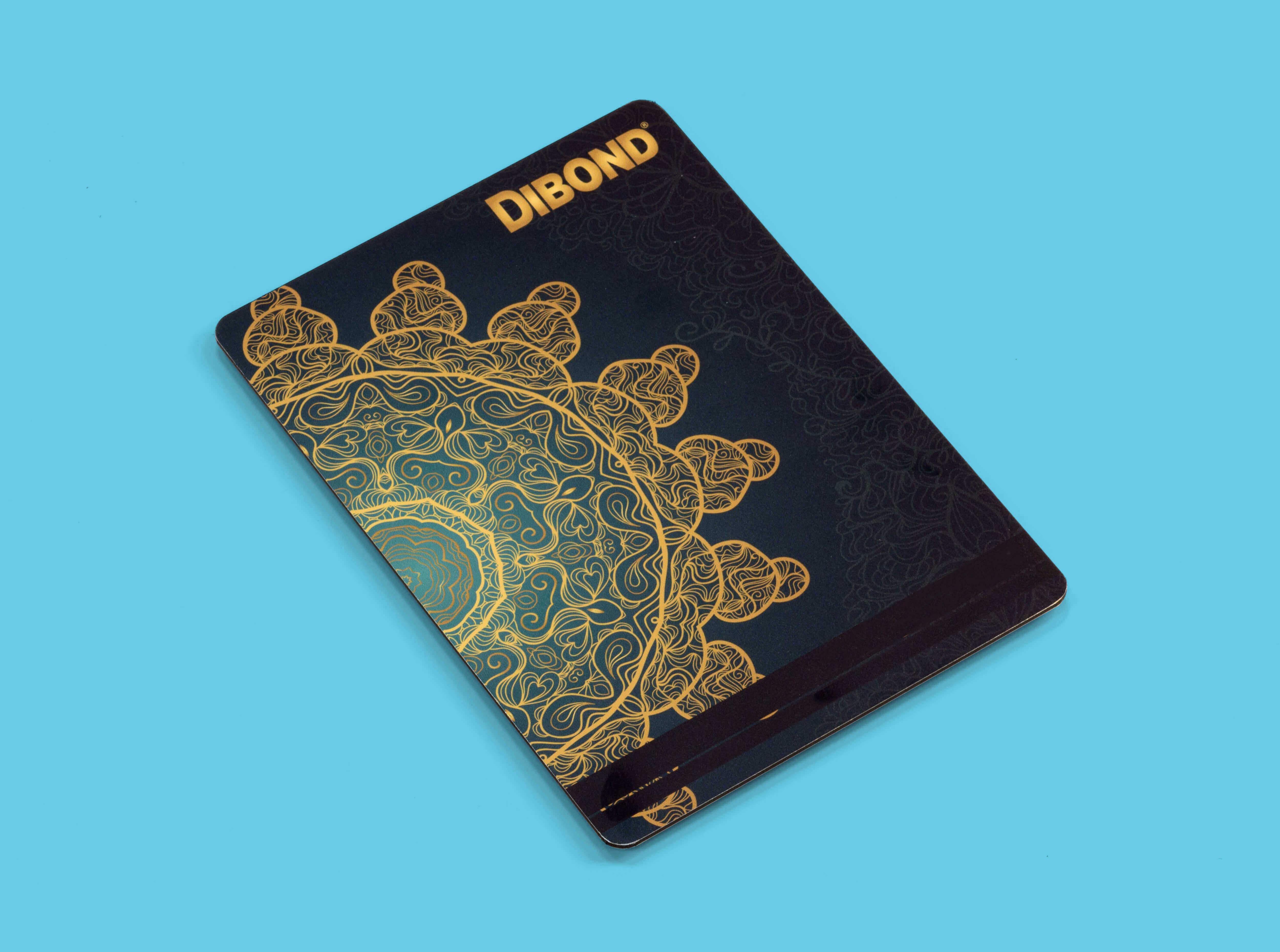 Dibond which is a very rigid and durable material.