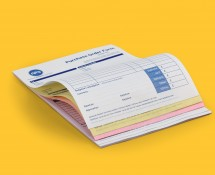 NCR Pads with a choice of coloured papers, individual numbering and pad size.