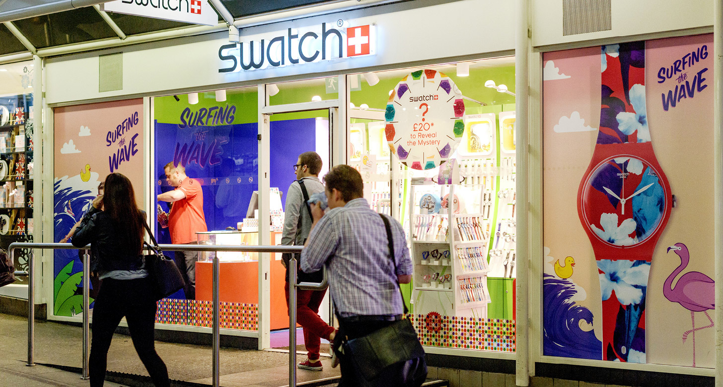 Swatch Outside Shop