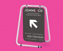 Increase sales by targeting passing trade, with a full range of pavement signs.