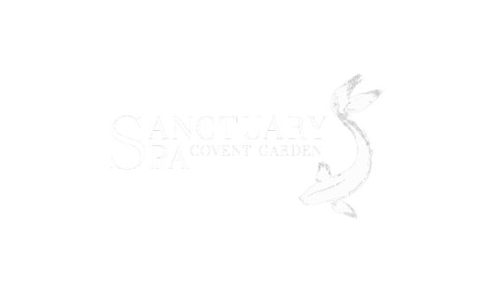 Sanctuary Spa Logo White Out