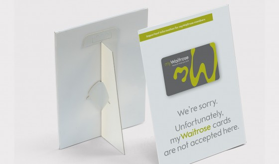 Waitrose Strut Card