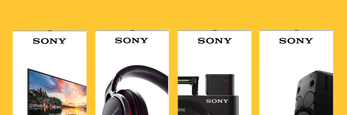 Sony pull up banners