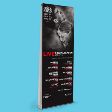 ROH double sided pull up banner