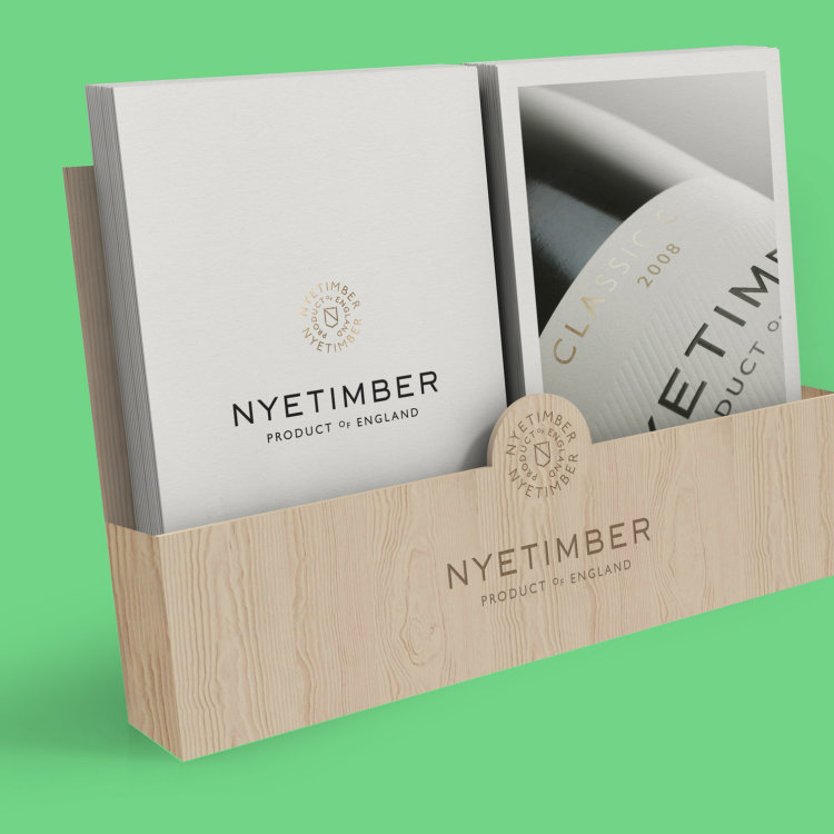 Nyetimber Menu Holder